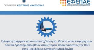 Ενίσχυση ανέργων για αυτοαπασχόληση και ίδρυση νέων επιχειρήσεων